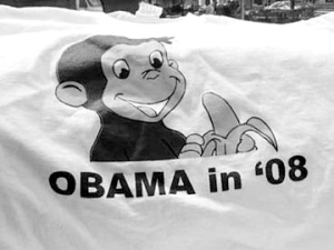 """The 'Curious George' Obama T-Shirt."" TerranceDC, http://www.flickr.com/photos/terrancedc/2955427354/"