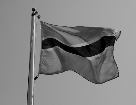 """Botswanan flag."" futureatlas.com, http://www.flickr.com/photos/87913776@N00/506956546/"