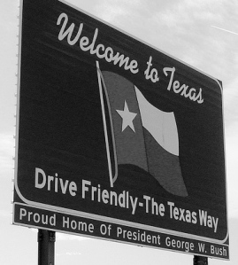 """Welcome to Texas sign, I-10."" Martin LaBar, http://www.flickr.com/photos/martinlabar/146816429/"