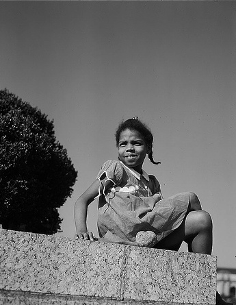 """Little girl in a park near Union Station, Washington, D.C."" Library of Congress, http://www.flickr.com/photos/library_of_congress/2179129197/"