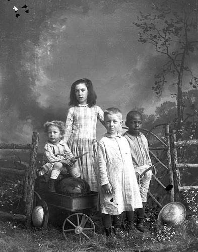"""Children in play clothes."" http://www.flickr.com/photos/floridamemory/3248110282/"