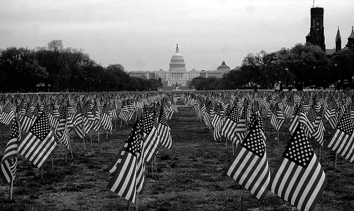 """12,000 Flags for 12,000 Patriots."" dbking, http://www.flickr.com/photos/bootbearwdc/2081490619/"