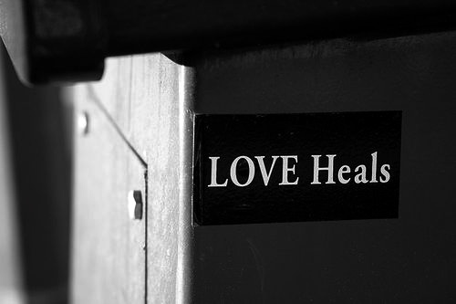 """""""LOVE Heals."""" neil-san, http://www.flickr.com/photos/neil_b/31376254/"""
