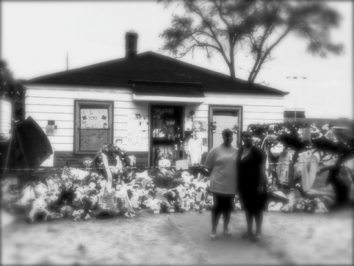 """Mourners, Jackson Family Home, Gary, IN."" Image courtesy Sister Scribe"