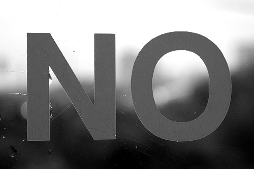 """No."" Kevin Steele, http://www.flickr.com/photos/kevinsteele/45712213/"